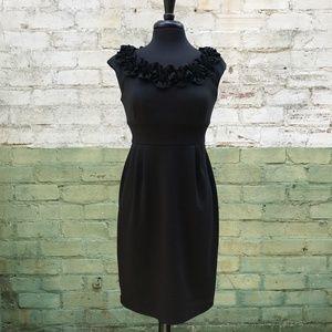 LONDON TIME Black Sheath Dress